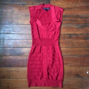 French Connection Red Spotlight Dress 4